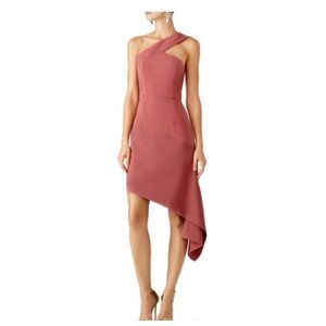 Keepsake the label Pink Asymmetrical Dress
